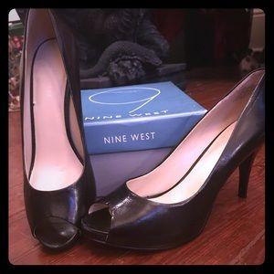 Black Open Toe Heels!